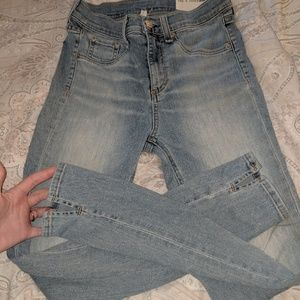 Rag & Bone Skinny Jeans sz 26 Ankle Cut Out